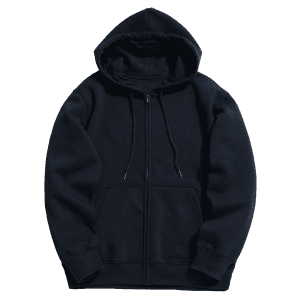 Kangaroo Pocket Fleece Zip Up Hoodie -