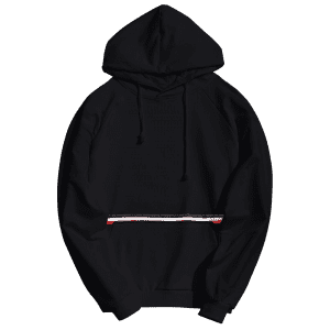 Striped Kangaroo Pocket Hoodie -
