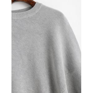 Crew Neck Plain Cape Sweater -