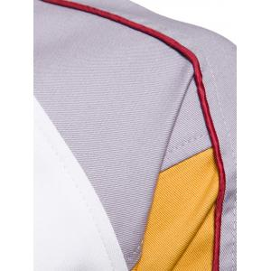 Blouson de Baseball Brodé Color Block -