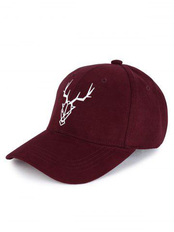 Discount Outdoor Elk Head Pattern Faux Suede Baseball Hat