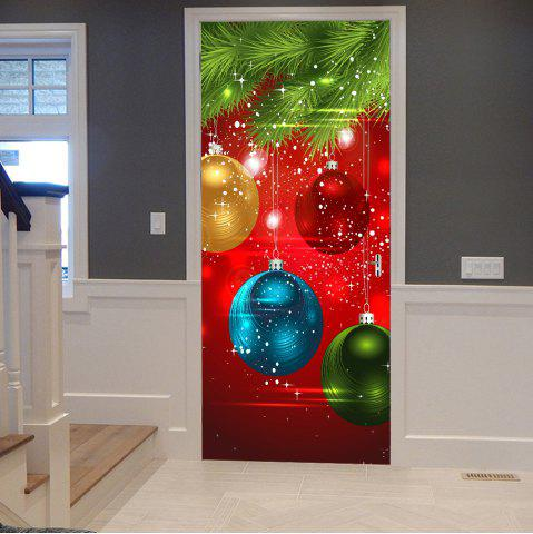 Shop Christmas Ornaments Baubles Pattern Door Cover Stickers