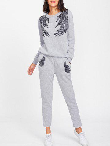 Best Gym Angle Wings Sweatpants Suit