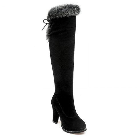 Chunky Heel Over The Knee Boots