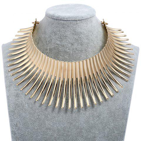 Shop Fringed Metal Bar Choker Necklace