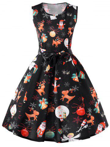 Shops Christmas Reindeer Sleeveless Fit and Flare Dress