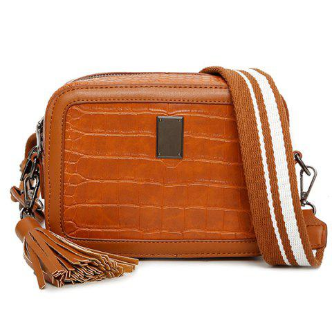 New Stone Pattern Tassel Crossbody Bag