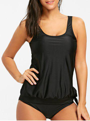 Ensemble Tankini Blouson Scoop Neck
