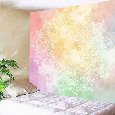 Colorful W71 Inch * L71 Inch Floral Print Wall Decor Mandala ...