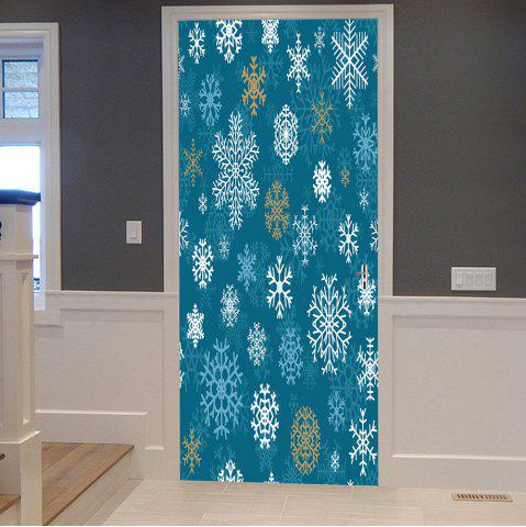 Shop Christmas Snowflakes Pattern Door Cover Stickers