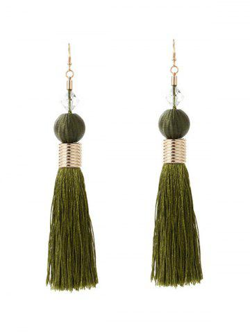 Latest Faux Crystal Ball Tassel Earrings