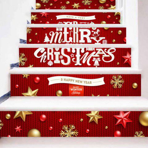 Hot Merry Christmas Letter Print Decorative DIY Stair Stickers