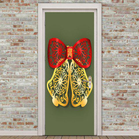 Cheap Paper Cut Bell Pattern Environmental Removable Door Stickers
