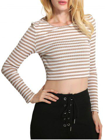 Cropped Striped Knitwear