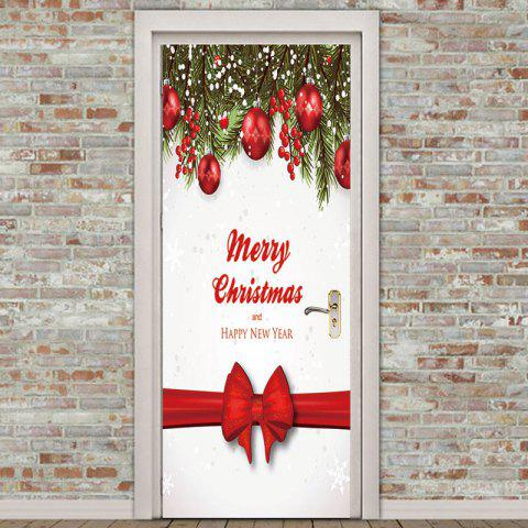 Best Christmas Bow Ribbon Printed Environmental Removable Door Stickers