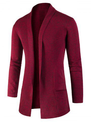 Affordable Jacquard Knitted Open Front Cardigan