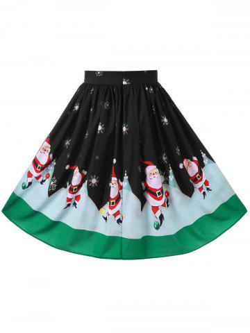 Chic Christmas Plus Size Midi Flowy Skirt