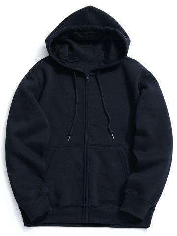 New Kangaroo Pocket Fleece Zip Up Hoodie