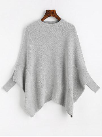 New Crew Neck Plain Cape Sweater