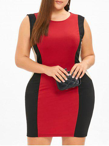 Latest Plus Size Sleeveless Mini Hourglass Dress