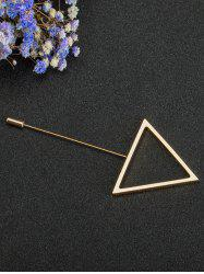 Simple Triangle Alloy Brooch -