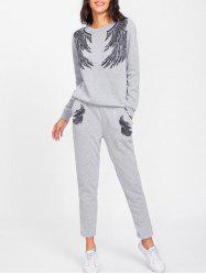Gym Angle Wings Sweatpants Suit -