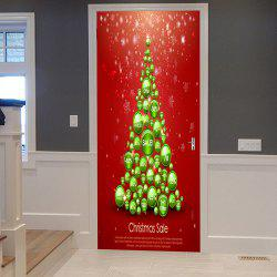 Christmas Balls Tree Pattern Door Cover Stickers -