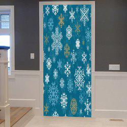 Christmas Snowflakes Pattern Door Cover Stickers -