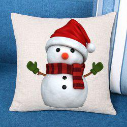 Decorative Christmas Snowman Patterned Pillow Case - Red And White - W18 Inch * L18 Inch