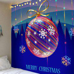 Waterproof Colorful Striped Christmas Ball Printed Wall Art Tapestry -