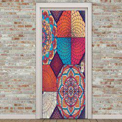 Decorative Bohemia Pattern Eco-friendly Door Stickers -