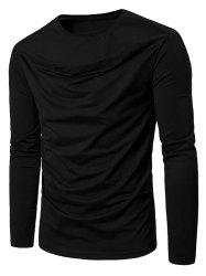 Long Sleeve Front Cut Out Tee -