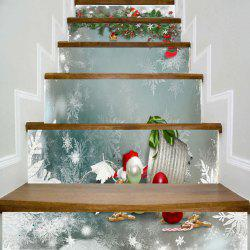 Christmas Theme Printed Decorative DIY Stair Stickers -