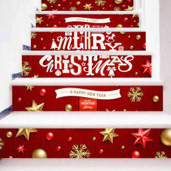 Merry Christmas Letter Print Decorative DIY Stair Stickers -