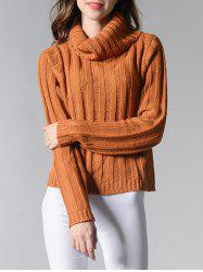 Cowl Neck Long Sleeve Sweater -