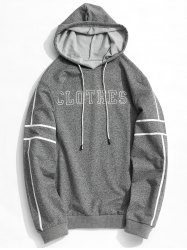 Clothes Graphic Striped Hoodie -