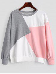Sweat-shirt Contrastant Ras du Cou -