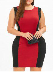 Plus Size Sleeveless Mini Hourglass Dress -