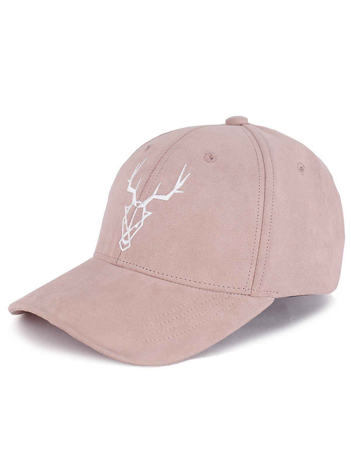 50% OFF   2019 Outdoor Elk Head Pattern Faux Suede Baseball Hat ... 2f14689c114