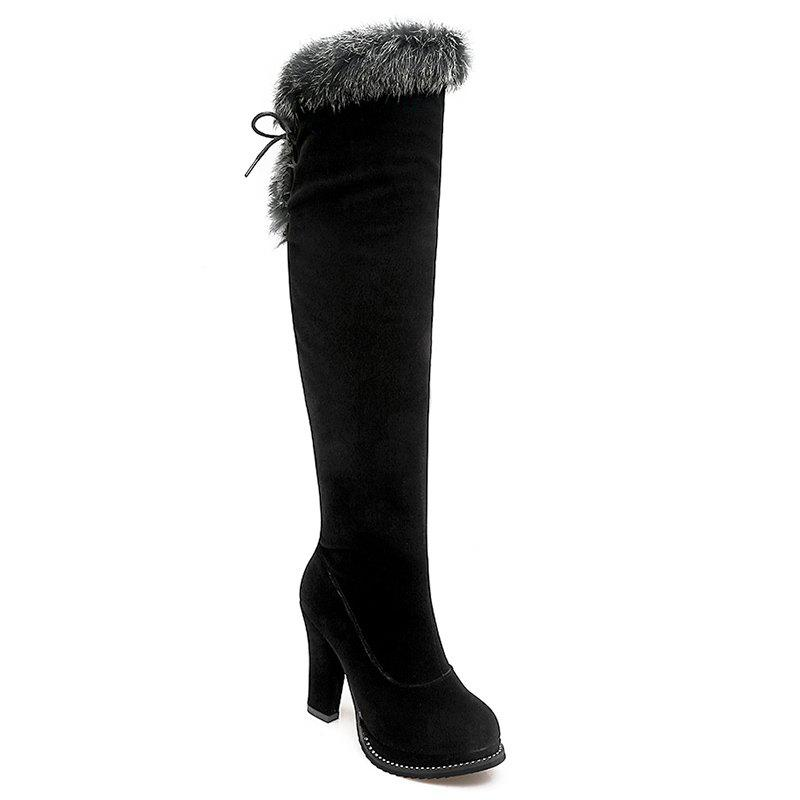Sale Chunky Heel Over The Knee Boots