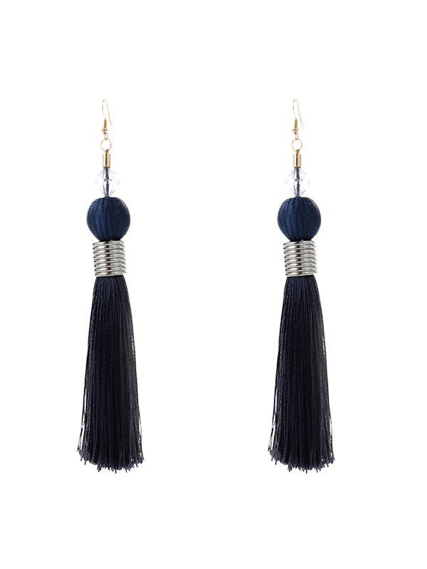 Sale Faux Crystal Ball Tassel Earrings