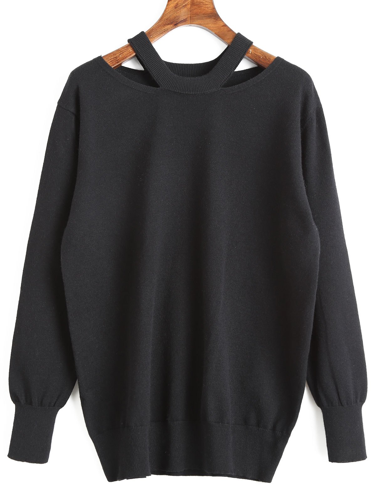 Store Cut Out Tunic Sweater
