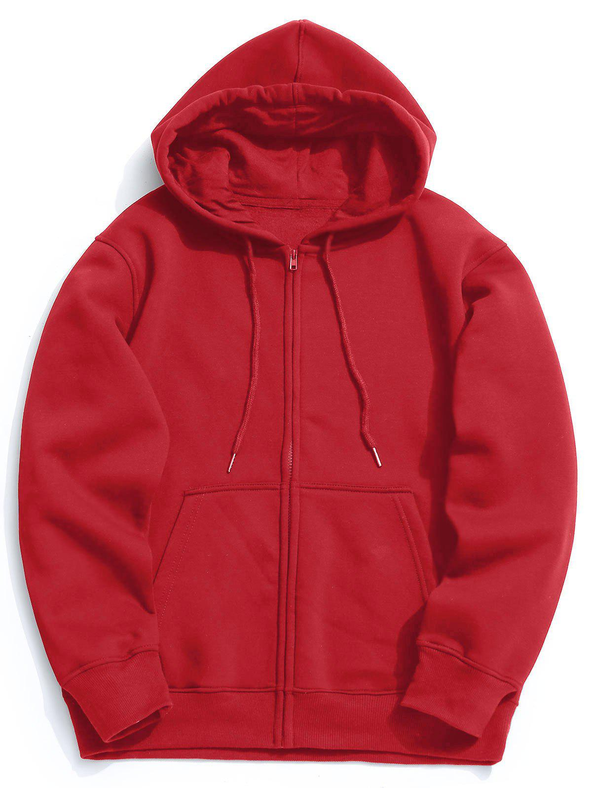 Outfits Kangaroo Pocket Fleece Zip Up Hoodie