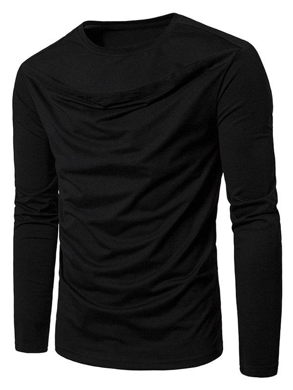 Shops Long Sleeve Front Cut Out Tee