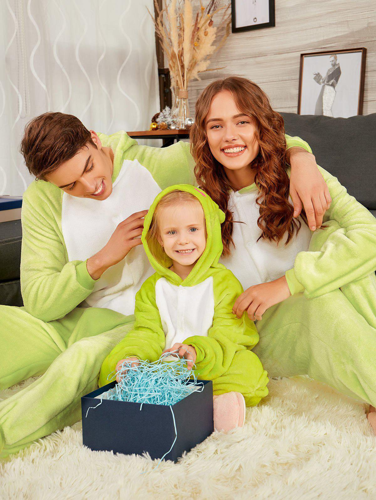Frog Animal Onesie Matching Family Christmas PjsWOMEN<br><br>Size: MOM XL; Color: GREEN GRASS; Material: Cotton,Polyester; Fabric Type: Fleece; Pattern Type: Animal; Weight: 0.5000kg; Package Contents: 1 x Family Onesie Pajama;