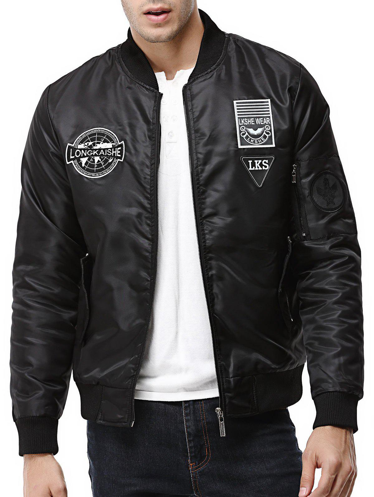 Shop Patch Design Zip Up Pilot Jacket