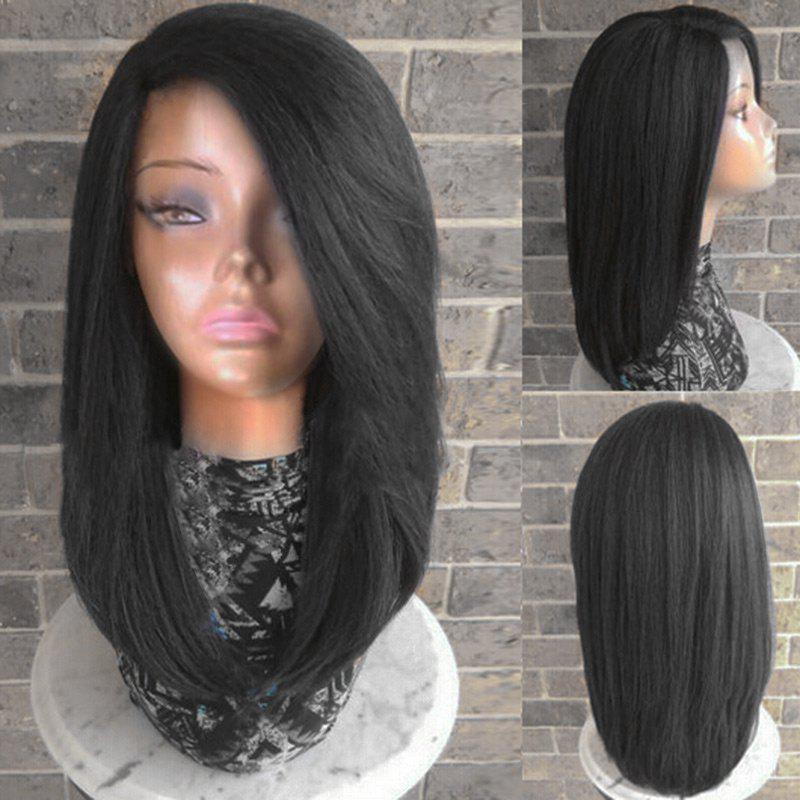 89622e776 49% OFF] Side Parting Long Straight Heat Resistant Synthetic Wig ...