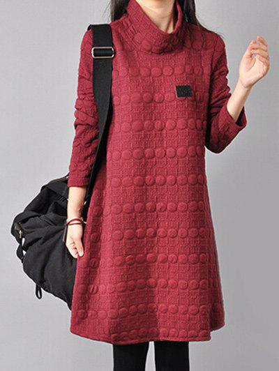 Outfit Turtleneck Printed Shift Dress
