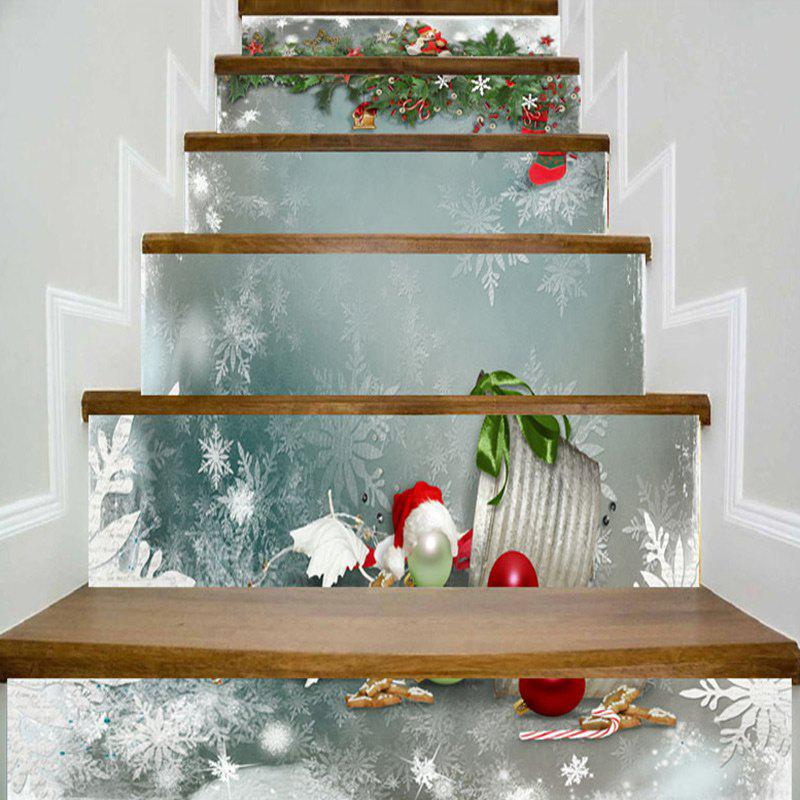 Trendy Christmas Theme Printed Decorative DIY Stair Stickers