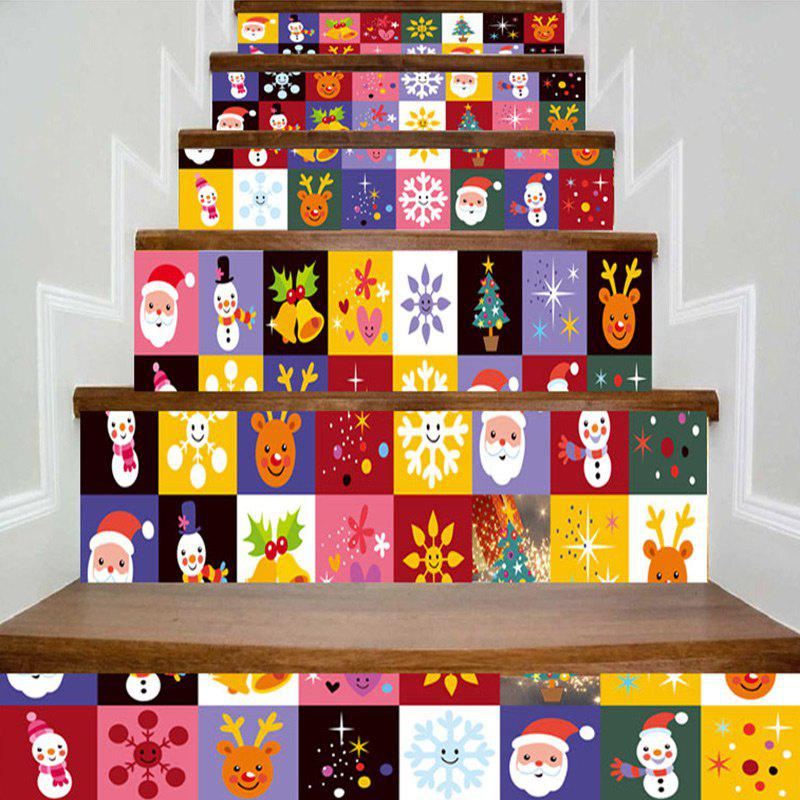 Shop Christmas Elements Print DIY Decorative Stair Stickers